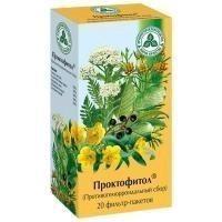 Противогеморроидальный сбор, ф/пак. 2 г №20 Проктофитол